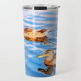 2 Ducks in a Pond Travel Mug