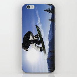 Born To Fly Snowboarder & Mountains iPhone Skin