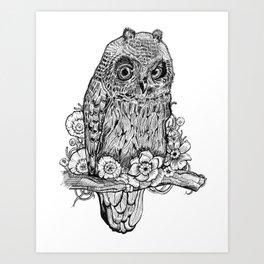 Hoot, hoot Art Print