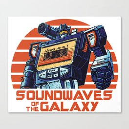 Soundwaves of the Galaxy Canvas Print