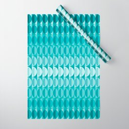 Leaves in the moonlight - a pattern in teal Wrapping Paper
