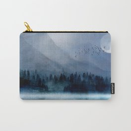 Mountainscape Under The Moonlight Carry-All Pouch
