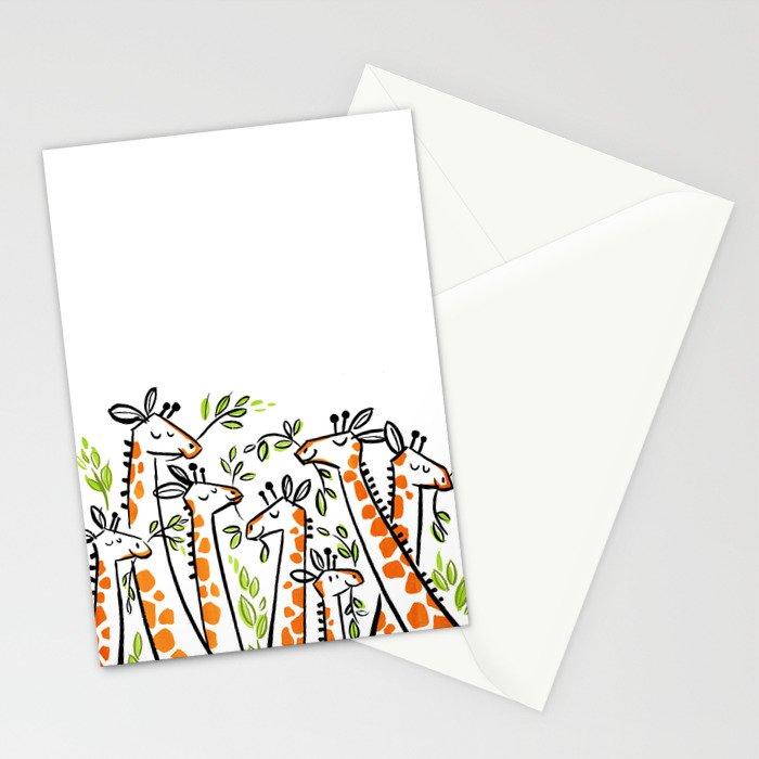 Giraffe Banquet Stationery Cards