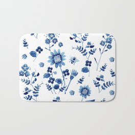 Spring wild flowers & Bee Bath Mat
