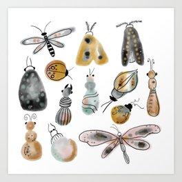 busy bugs Art Print