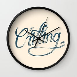 Just Chilling Wall Clock