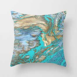 Woody Water Throw Pillow