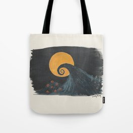 Nightmare Before Christmas Watercolor Tote Bag