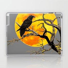 FULL MOON & RAVEN ON DEAD TREE Laptop & iPad Skin