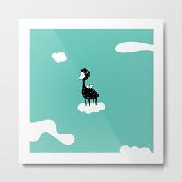 Flying Alpaca by Amanda Jones Metal Print
