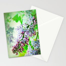 Lilacs In The Green Stationery Cards