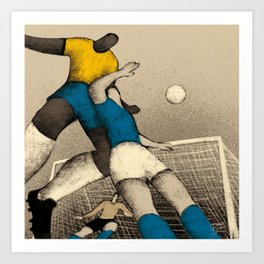 History of Football - 1970 Art Print