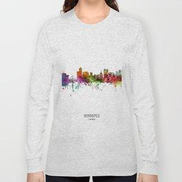 Winnipeg Canada Skyline Long Sleeve T-shirt