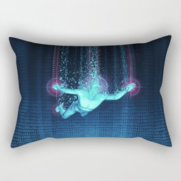 Virtual Reality Diver Rectangular Pillow