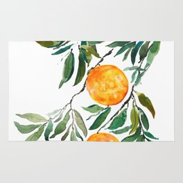 orange watercolor Rug