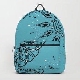 Central Mandala Turquoise Backpack