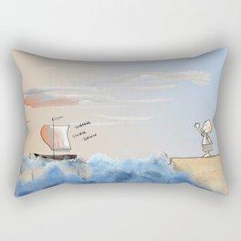 Quand tu partiras Rectangular Pillow