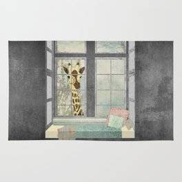 Bay Window Giraffe Rug
