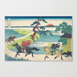 Katsushika Hokusai - Sekiya Village on the Sumida River Canvas Print