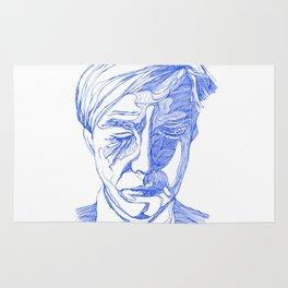 Andy portrait (Blue) Rug