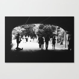 SAXOPHONE PLAYER IN A TUNNEL Canvas Print