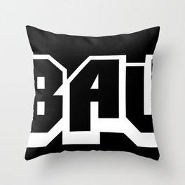 The A-BAUM Logo White Throw Pillow