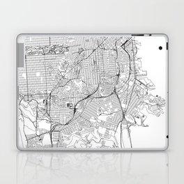 San Francisco White Map Laptop & iPad Skin