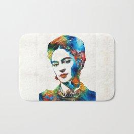 Frida Kahlo Art - Viva La Frida - By Sharon Cummings Bath Mat