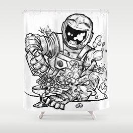 Space Bar Shower Curtain