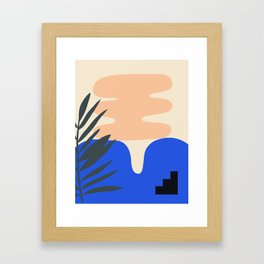 Shape study #14 - Stackable Collection Framed Art Print