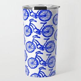 roule ma poule - wanna ride my bicycle BLUE Travel Mug