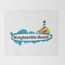 Wrightsville Beach - North Carolina. Throw Blanket