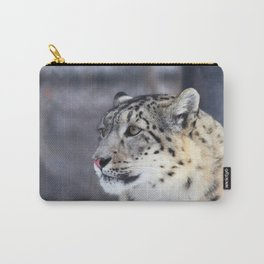 Concerned Mama Snow Leopard Carry-All Pouch