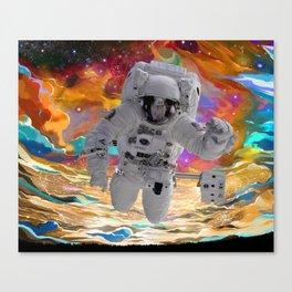 Cosmic Galaxy Astronaut Canvas Print