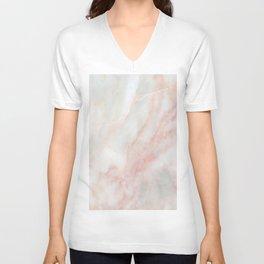 Softest blush pink marble Unisex V-Neck