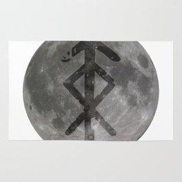Viking bind rune 'Protection' on moon. Rug
