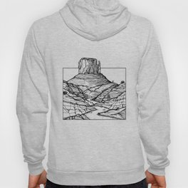Monument Valley Hand Drawing Hoody