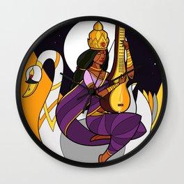 Saraswati - Goddess of Wisdom (alt) Wall Clock