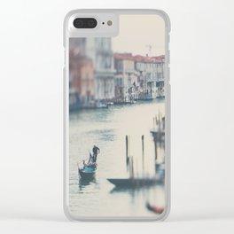 winter in Venice ... Clear iPhone Case