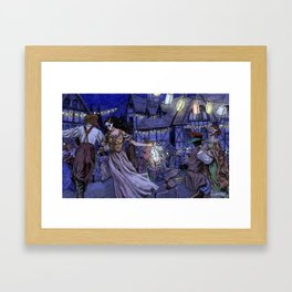 The Lantern Dance Framed Art Print