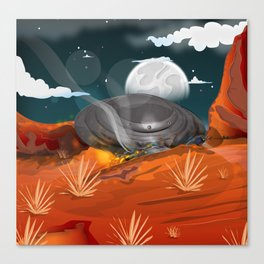 Roswell UFO Crash!  Canvas Print