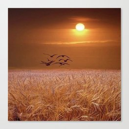 bird and yellow Canvas Print