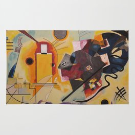 Wassily Study Repro yellow red blue 1925  Rug