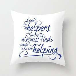Rogers' Army -Blue Throw Pillow