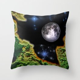 Cracked Earth Throw Pillow