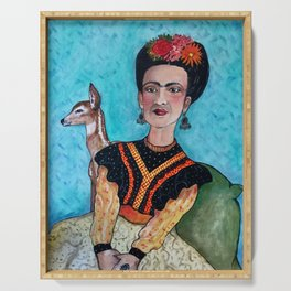 Frida and Fawn Serving Tray