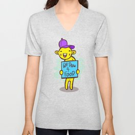 Will Draw For Food Unisex V-Neck