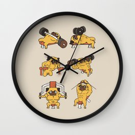 Chest Day with The Pug Wall Clock