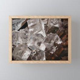 Giant Ice Blocks Framed Mini Art Print