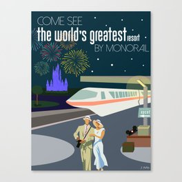 The World's Greatest Resort by monorail Canvas Print